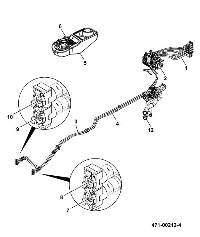 8290 spare parts 2004 F150 Transmission Cooler Lines hydraulic circuit installation assemblies 4 rear qrc 2 front aux