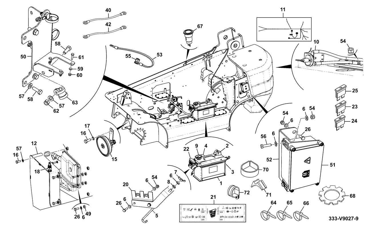 tlt 30 diesel engine high lift 2 wheel drive tier 4 spare parts CJ5 Wiper Motor Wiring Diagram electrical installation assemblies chassis