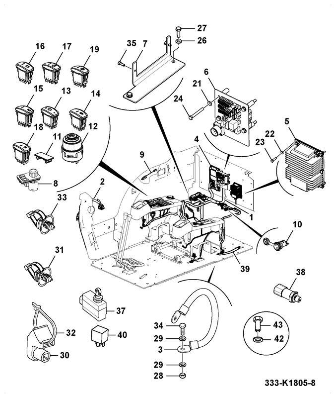 js130 long carriage demolition spare parts Honeywell AC Thermostat Wiring Diagram electrics cab installation assemblies t4i