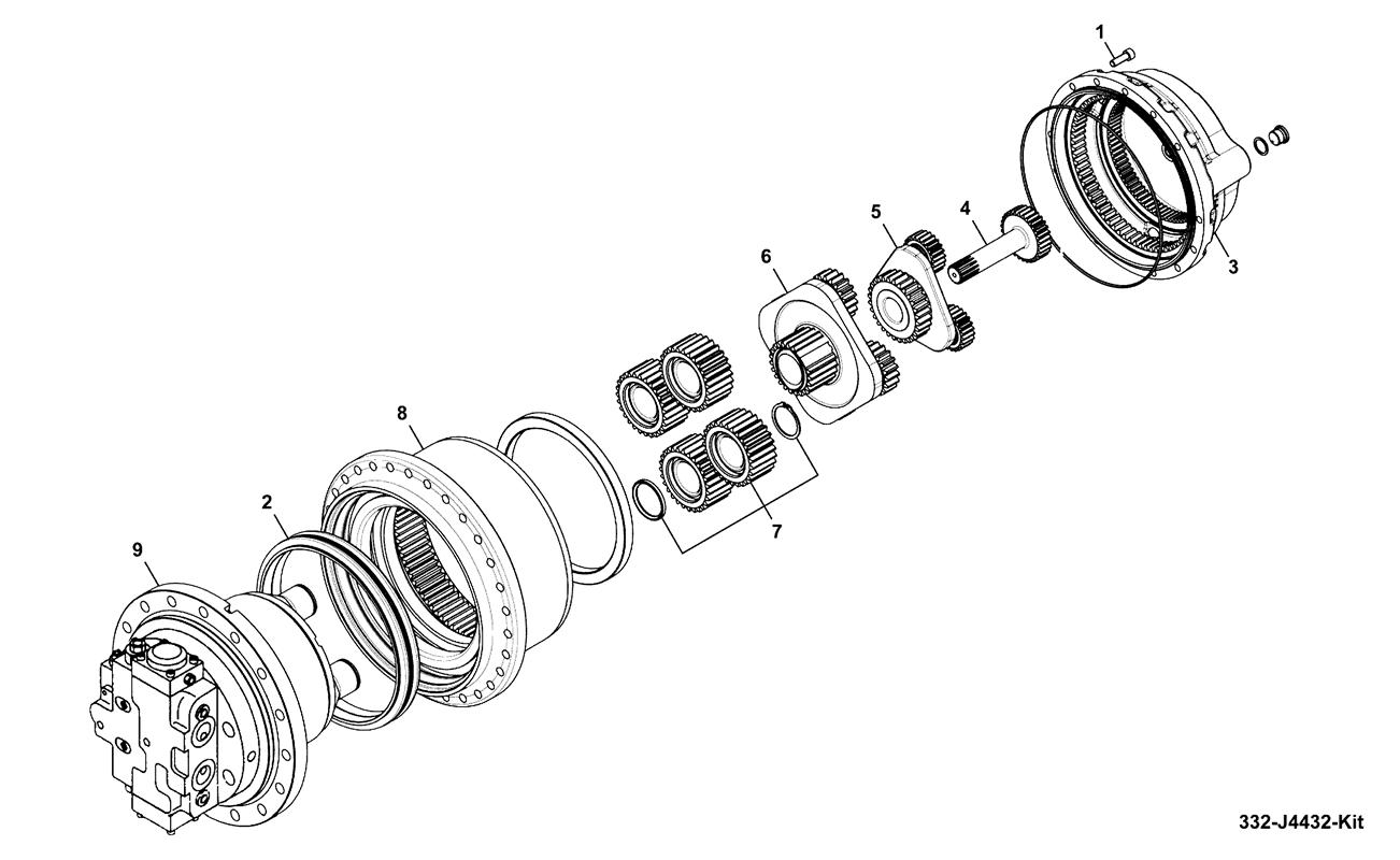 Jz140 Heavy Duty Spare Parts Jcb Alternator Wiring Diagram Gearbox Track Components 332 J4432