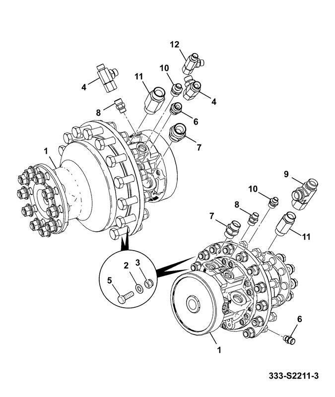 tlt 35 diesel engine 2 wheel drive tier 4 spare parts Diesel Fuel Filters motor hydraulic drive assemblies wheel motor