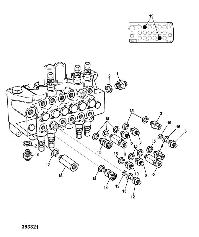 valve adapters excavator gear pump low leak check valves