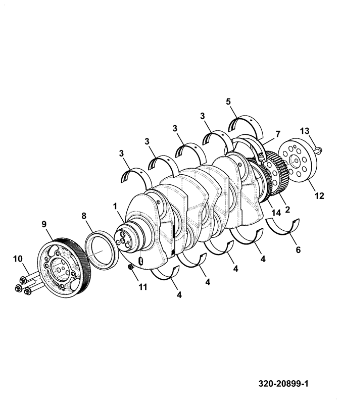 260t T4f Engine Spare Parts