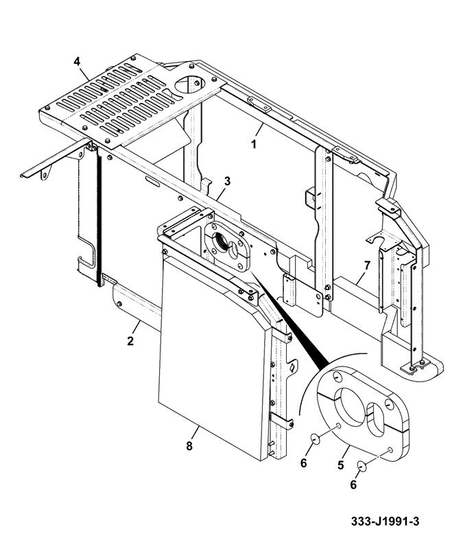 js115 spare parts Barn Framing Diagram bodywork installation assemblies frame house mon