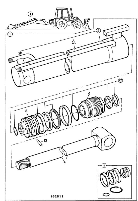 3cx powershift spare parts Kawasaki 610 Wiring Schematic ram extension extradig dipper