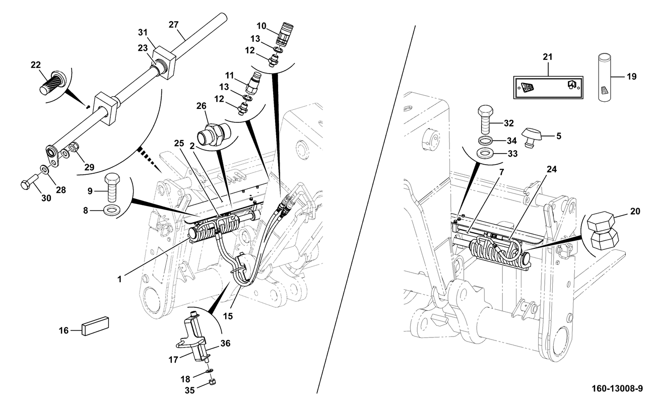 CARRIAGE ASSEMBLY SIDESHIFT